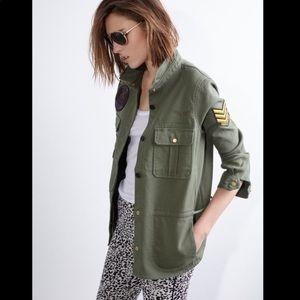 Zadig & Voltaire Army Green Tackl Jacket